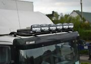 Roof Bar + Leds + Led Spots S + Amber Beacon For Daf Xf 95 Space Cab Truck Black