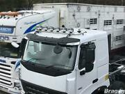 Roof Bar + Led Spots S + Clear Beacons For Volvo Fe 06-13 Stainless Steel Truck