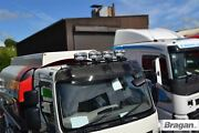 Roof Bar Black + Leds + Led Spots For Mercedes Axor Low Cab Stainless Steel