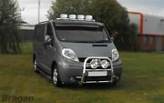 Roof Bar + Jumbo Led Spots Lamps + Leds For Iveco Daily 2014+ Top Stainless Bar