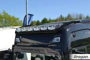 Roof Bar Black + Jumbo Led Spots + Beacons For New Gen Scania R And S 17+ High Cab