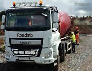 Roof Bar + Led Spots Lamp S For Foden Alpha Low Cab Chrome Stainless Steel Truck