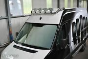 Roof Bar + Jumbo Led Spots Lamps For Iveco Daily 2014+ Stainless Steel Top Bar