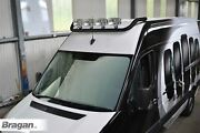 Roof Bar Black + Led Spots Lamps For Volkswagen Crafter 2017+ Stainless Steel