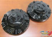 2020-2021 Ram 3500 Rear Left And Right Black Wheel Center Caps For 17x6 Wheels