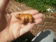 Hand Carved Wood Netsuke Bear Stretching Collectable Boxwood Figure ...1