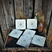 Antique 1900 Minton Tint And Print Tiles Rd No 174956 Stoke On Trent Reclaimed