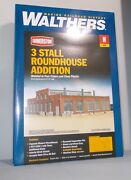 N Scale Train Walthers Nib 3 Stall Roundhouse Addition