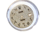 Pave Diamond Arabic Dial For Rolex Datejust 36mm Caliber 3035 3135 - Silver
