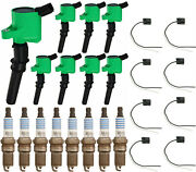 Ignition Coil W/ Connector And Motorcraft Platinum Spark Plug For Ford 3.8l 3.9l