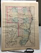 Vintage 1853 Michigan St Clair And Sanilac County Map Old Antique Original Map