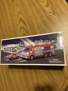 Vtg Hess 2005 Emergency Fire Truck With Rescue Vehicle Brand New With Bag
