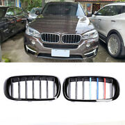 For Bmw F15 X5/f16 X6 2014-2018 Black Front Mesh Bumper Hood Grille Grill