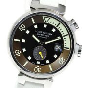 Louis Vuitton Tambour Diving Q1031 Brown Dial Automatic Menand039s Watch_615255