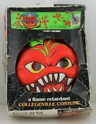 Attack Of The Killer Tomatoes Halloween Costume And Mask Rare Collegeville