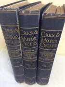 Cars And Motor-cycles By Lord Montagu Of Beaulieu And Bourdon Volumes 1-3 Hb 1928