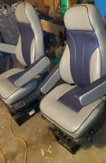 National Seating Air-ride Truck Seats, Swivel, Heat, Re-covered.