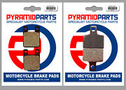 Front And Rear Brake Pads 2 Pairs For Factory R14 50 Phantom Agua 2004
