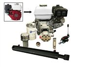 Log Splitter Kit With 9hp Engine Incl. Auto Kickout Lever Valve. 10 Ton Force
