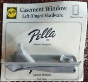 New Pella Casement Window Hardware Left Hinged Crank Handle And Cover Champagne