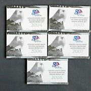 2004 - 2008 Us Mint Silver 50 State Quarters Proof Set Run W/ Boxes