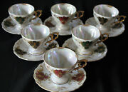 Royal Sealy Japan Set Of Six Cup And Saucer Sets