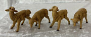 Fontanini Set Of 4 Sheep 1983 7.5 Scale Spider Mark Nativity Vintage Brown Ital
