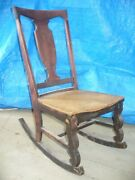 Antique Style Rocking Chair Early 1920and039s 100 Original
