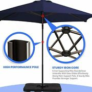 9ft Offset Cantilever Patio Umbrellas Outdoor Hanging Heavy Duty 360 Rotation