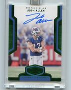 2018 Panini Plates And Patches Josh Allen Auto Signal Callers 1/1 Bills Nm