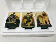 Bradford Exchange Editions Wizard Of Oz Tin Man, Scarecrow, And Lion Ornaments Lot