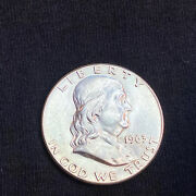 Liberty 1963 Half Dollar Ben Franklin Coin United States Of America