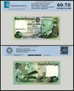 Portugal 20 Escudos Banknote, 1978, P-176b, Unc, Tap 60 - 70 Authenticated