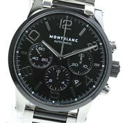 Time Walker 7141 Chronograph Black Dial Automatic Menand039s Watch_617106