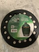 Round Cast Iron Fire Grate Bbq High Heat Charcoal Plate For- Large Big Green Egg