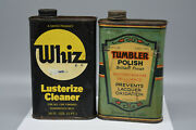 Vintage Whiz Cleaner Can Feels 3/4 Full And Tumbler Polish Can Empty. Preowned