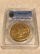 1859-s Au53 Pcgs Liberty Double Eagle Type 1 20 Gold Coin Pq Great Appeal