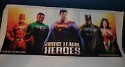 Justice League Heroes Ps2 Xbox Double Sided Poster Batman Superman Wonder Woman✔