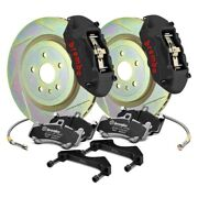 For Chevy Camaro 10-15 Gt-s Series Slotted 1-piece Rotor Rear Big Brake Kit