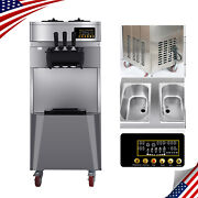 Automatic Stand Commercial 3 Flavors Ice Cream Maker Making Machine 1850w 20l/h