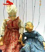 Vtg 1950' Hazelle's Marionette / Puppets Airplane Control And String Movements-usa