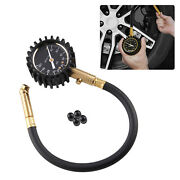 Heavy Duty Tire Pressure Gauge Fit For Car Truck Motorcycle 0-75 Psi