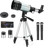 Telescope For Kids Beginners Adult Professional 70mm Aperture 300mm Refracting T