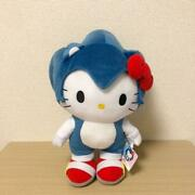 Sonic X Hello Kitty Collaboration Special Plush Dolls Kitty-chan From Japan