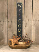 Welcome Accent Hanging Wall Decor - Primitive - Farmhouse - Rustic Home Decor