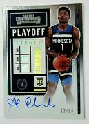 2020-21 Contenders Anthony Edwards Rookie Playoff Ticket Variation Auto 12/99 💎
