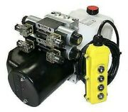Flowfit 12v Dc Double Acting, Double Solenoid Hydraulic Power Pack With Tank And W