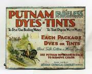 Putnam Fadeless Dyes Tints Metal Store Display Advertising Cabinet Quincy Il