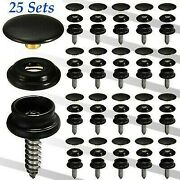 3part-screw Press Studs 15mm With Hand Tool Set For Fitting Boat Cover Carpet