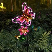 Solar Stake Butterfly Outdoor Lights Garden Yard Lawn Decor Patio Pathway Porch